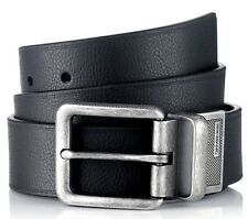 $125 CALVIN KLEIN Mens BLACK BROWN LEATHER REVERSIBLE BUCKLE CASUAL BELT SIZE 34
