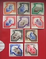 1935 Russia USSR 1935  Spartacist Games Zag.406-415 MNH/ MH*/ USED WITH GUM