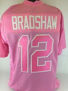 Terry Bradshaw Unsigned Custom Sewn Pink Football Jersey Sz S,M,L,XL,2XL Charity