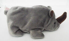 TY BEANIE BABY SPIKE RHINO 7 ERRORS PVC 4TH GEN SWING 5TH TUSH RETIRED MINT NEW