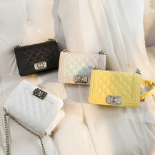 Small Mini Faux Leather Single Shoulder Bag Crossbody Chain Purse Cute Satchel