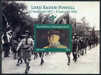 Madagascar Scouting Stamps 2018 MNH Lord Baden-Powell Scouts Flags 1v M/S