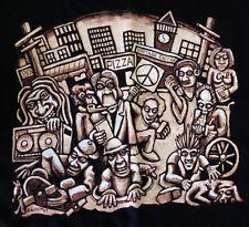 Vintage 1990s Tower Records Staff Employee Shirt Berkeley CA Califonia Black XL