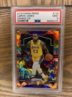 2019-20 Panini Prizm LeBron James Orange Ice PSA 9 MINT Lakers #129