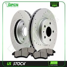 2013 2014 2015 Chevy Sonic Front Brake Rotors And Ceramic Pads Drilled Slot