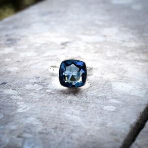 Smart Tanzanite Gemstone 925 Sterling Silver Handmade Ring All Size