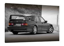 Mercedes 190e Cosworth - 30x20 Inch Canvas Art - Framed Picture Print