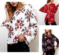 Camicia Autunno Manica Lunga Donna Asimmetrica Woman Long Sleeve Shirt 541012 P