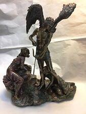 Blindfold Eros Winged God of Love Roman Cupid Desire Figurine Statue w Bow Arrow