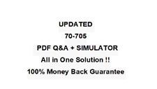 70-705 BEST EXAM PRACTICE MATERIAL  QA PDF&Simulator