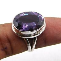 925 Solid Sterling VVID Alexandrite Stone Ring Size 8 Silver Stone Ring M550