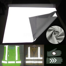 """1M 39.4"""" Reflective Fabric Cloth Material Sew SILVER REFLECTIVE FABRIC New"""