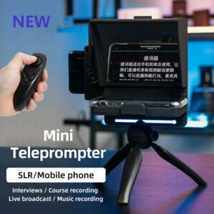 New Mini Teleprompter Portable Inscriber for Phone DSLR Recording Live Broadcast