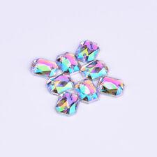 18 * 25 mm Coser Rectangular claro cristales AB Dorso Plano Pedrería Sewon 10Pcs