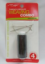 New Black Thread Sewing Hair Weave Extensions Needles Kit