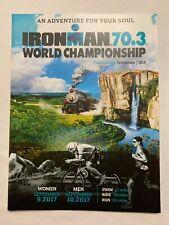 Ironman Chattanooga Tn 2017 World Triathlon Official Race Program Championship