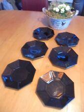 Arcoroc  Octime°°  6 x achteckige Teller klein°°schwarz°°Unterteller°°