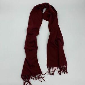 New Stewart Scotland mens scarf burgundy merino wool Q394