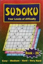 Sudoku Puzzle games book,4 LEVELS OF DIFFICULTY, one of the BEST, No. 26
