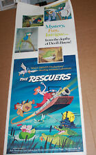 WALT DISNEY THE RESCUERS MOVIE POSTER Original 1977 Vintage Classic Film 14 x 36