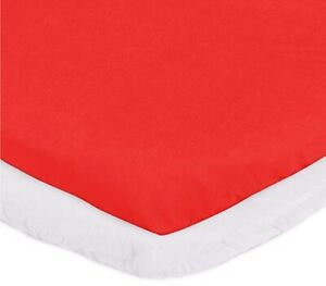 """aBaby Bassinet Mattress Protector and Sheet Combo, Red, 13"""" x 29"""""""