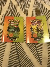 More details for pokemon fire red leaf green rulebook and card list