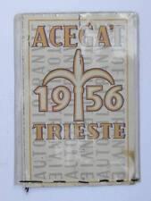 TRAM TRANVIE BUS abbonamento tessera Acegat Trieste 1956 Autofilotranvie 16