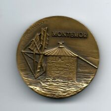 "BRONZE MEDAL OF PORTUGUESE WINDMILL ""MONTEMOR"" BY VASCO BERARDO. M25"