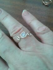 Handcrafted ring with opalite size S