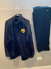 Mens Iowa Hawkeyes Player Issued Nike Dri-Fit Black Sweat Suit XL