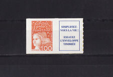 timbre France vignette +  Marianne  1f orange autocollant   3101aa type II   **