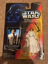 Star Wars POTF Princess Leia Organa Red Canadian Card 1995 3 Belt