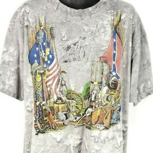 Civil War Tennessee T Shirt Vintage 90s Battle Above The Clouds Made In USA 2XL