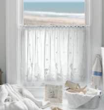 "Heritage Lace White SEASCAPE Window Tier 60""Wx24""L"