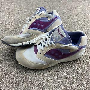 Saucony XT600 Shoes Sz 8 Bangor Purple Plum Cream White Running tennis VTG