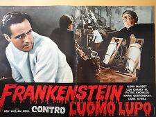 1963-FRANKENSTEIN CONTRO L'UOMO LUPO-Cinema-Regia di R.W.Neill-Fotobusta 4