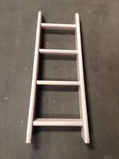 FLEXA 4 STEP SLANTED WHITEWASH LADDER w GRAY RAIL - FLEXA #80014022/714713-14
