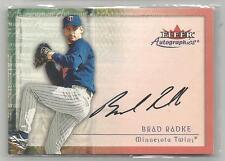 2000 Fleer Baseball Brade Radke Autographics On Card Autograph