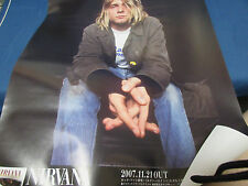 Nirvana Japan Poster for Promo Unplugged in New York DVD in 2007 Foo Fighters