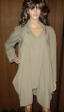SAMUEL DONG DRESS COAT LONG TAUPE   Sz XS New