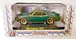 M2 MACHINES GROUND-POUNDERS R11 1969 PONTIAC GTO GOLD CHASE