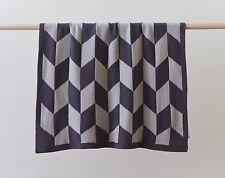 100 % Cotton Billie Girls Boys Grey Baby Cot Crib Blanket Wrap Pram Blanket