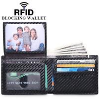 Wallet for Men -Thin Bifold Genuine RFID Blocking Credit Card Holder Wallet Men