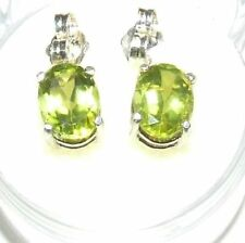 Handmade Peridot Sterling Silver Fine Earrings