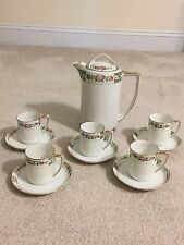 Vintage Hand Painted Nippon Tea Hot Chocolate Pot 5 Cups Set