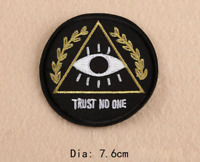 Trust No One - Funny Iron on Embroidery Cloth Patch Sew on Badge - Clothes Hat