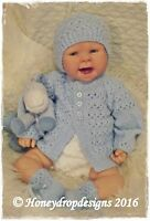 Honeydropdesigns PITTER PATTER  * PAPER KNITTING PATTERN * Reborn/Baby Layette