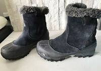 The Noth Face Winter Snow Black Leather Suede Boots 7.5