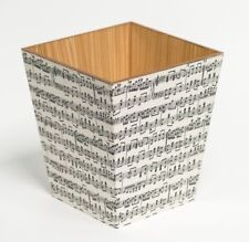 Notes musicales en bois fait main Waste Paper Bin Made in UK