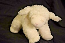 "Baby Gund White Lamb Winky Stuffed Animal Plush Rattle Closed Eyes 8.5"""